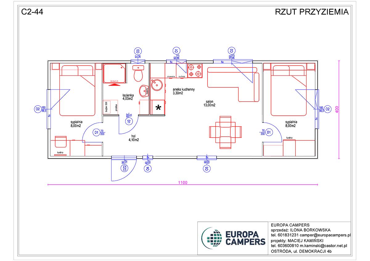 2 Mobilny dom holenderski C2-44