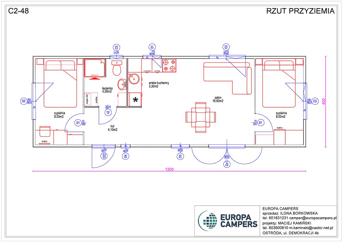 2 Mobilny dom holenderski C2-48