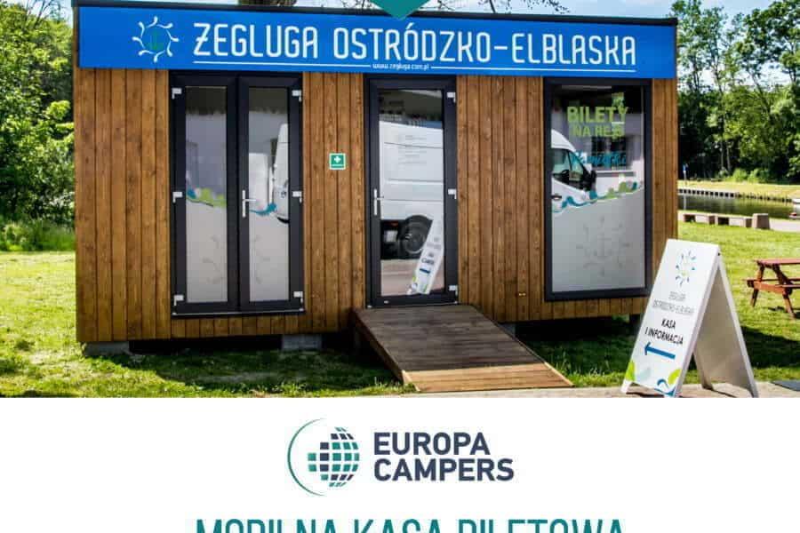 Mobilna kasa biletowa Żeglugi Ostródzko-Elbląskiej