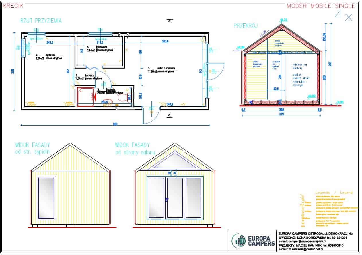 2 Domek letni 35 m²